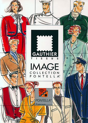 Gauthier Tissus workwear catalogue front cover. This copyrighted image is the work of British Fashion Illustrator Hilary Kidd